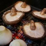 山女庵 - 椎茸と新玉ねぎ