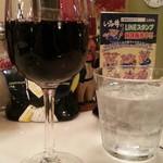 カフェバーンズ - 別のお姉さんおすすめのい志井オリジナル赤ワイン500円