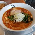 十八製麺 - 料理写真:「辛しお (780円)」、じわっと来る辛さが旨い