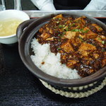 644308 - 四川山椒と唐辛子の麻婆豆腐あんかけ土鍋ご飯