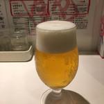 麺屋錦 - 生ビール(480円)