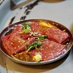 立喰☆焼肉 瑞園 - 超新鮮山形牛炙りレバー 550円