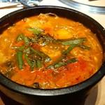 焼肉トラジ - 石鍋とうふチゲ