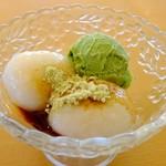 レストラン源 - きなこ餅と抹茶アイス\400