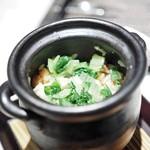 中国料理 翡翠宮 - 醤油漬け豚肉と青菜の炊き込み御飯
