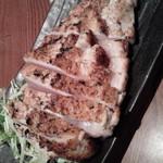 64403767 - 大山鶏の香味刺身ステーキ