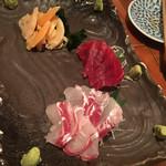 魚哲 - 青柳、赤身、真鯛