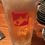 魚哲 - 生ビール