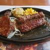 ブロンコビリー - 料理写真:ブロンコビリー 四街道店 炭焼き厚切りアリゾナグレインリブロースステーキ&炭焼きジューシーがんこハンバーグ コンビ