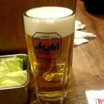 串かつ でんがな - 生ビール:無料