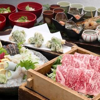 旬の素材で構成された「宴会料理」