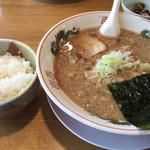 汁力 - 汁力ラーメン(大盛り)780円 しろごはん 120円