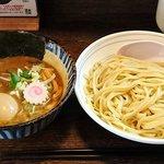 64419471 - 東京煮干中華そば 三三㐂 @大森 味玉つけめん 税込950円 麺並盛り(200g)