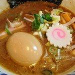 64419511 - 東京煮干中華そば 三三㐂 @大森 味玉つけめんの濃厚つけ汁