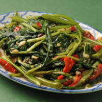 バーン・キラオ - 空心菜炒め、辛さの調節はできますよ