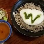 飯島屋 - とろろそば Wは早稲田の応援歌かっ!