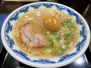 博多麺房 赤のれん - らぁめん+味つけ玉子