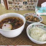 龍門瀑 - 黒カラシビ麺と唐揚げご飯(980円)