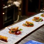 明道町中国菜 一星 - 山口県産甘鯛のうろこ揚げ、チリソース