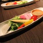 64429956 - 季節野菜とアンチョビソース