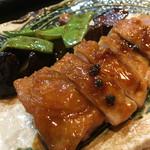 和酒飯くり家 - 鶏の山椒焼き。定番です。鶏はもちろんだけど、野菜が美味い!!