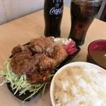 北海道唐揚げ えぞ丸 - ミックス定食ドリンクセット