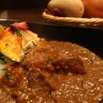 熟成肉×Bistro OGINO - じっくり煮込んだ、希少部位を使ったカレーです。濃厚なカレーが食欲をそそります。