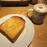 シーズカフェ - バタートーストモーニングドリンクセット 430+50円