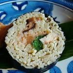 蕎麦処 多賀 - 蕎麦寿司2個500円(メニュー外)