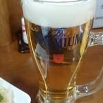 うみブタ - 生ビール♪(300円)