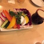 64442168 - 170314産直野菜のバーニャカウダハーフ980円