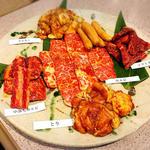 しらぎ苑 - お肉の盛り合わせ