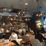 肉が旨いカフェ NICKSTOCK - 店内はアメリカンテイストなカフェって感じ