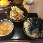 角中うどん店 - 2017/03/25 肉つけうどん(3玉) 780円 ミニ野菜かき揚げ丼セット 250円