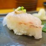 よし寿司 - 料理写真:[2017/03]三陸ずし・雅 にぎり(2300円)・寿司③ どんこの握り 肝乗せ