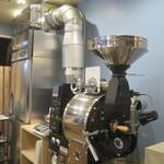 サウンドウェーブ コーヒー ロースターズ - Fuji Royalと刻印された焙煎機