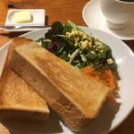 64462832 - 本日の珈琲とペリカンのパンとサラダのモーニングセット