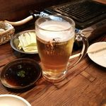 やきにく宵緒 - 生ビール 2016年3月 480円