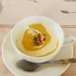 伊咲亭 - ランチセット・かぼちゃのスープ