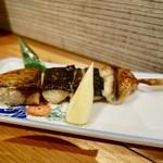 64463752 - [2017/03]ビール&地酒 お料理セットコース(3900円)・銀サバ串焼き