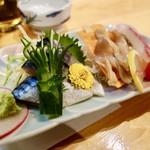 64463757 - [2017/03]ビール&地酒 お料理セットコース(3900円)・〆さばと地魚刺身 二点盛り