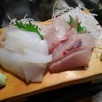 かわなみ鮨 - 烏賊、カンパチ刺身