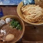 64466825 - ベジポタ(味玉肉増し)煮干し〆つけ麺