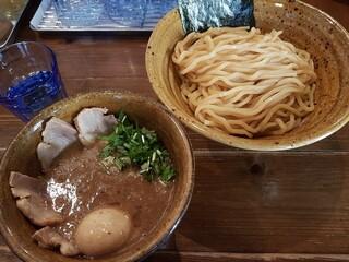 ベジポタつけ麺えん寺 - ベジポタ(味玉肉増し)煮干し〆つけ麺