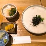 信州松本ヒカリヤ - 山芋とろろそばセット わさび飯付き