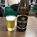 食堂 多万里 - 瓶ビール¥550