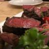 オステリア オージオ ソット - 料理写真:米沢牛ランプの炭火焼き3,400円に江別産マイアーレネロ(黒豚)の炭火焼き2,800円