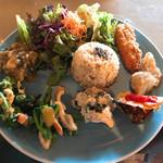 カフェ クウワ - 菖蒲産野菜たっぷり惣菜プレート
