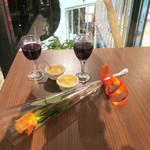 ロータスガーデン - 戴いたバラとデザート