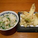 沙伽羅 - 山菜天婦羅、炊き込みご飯